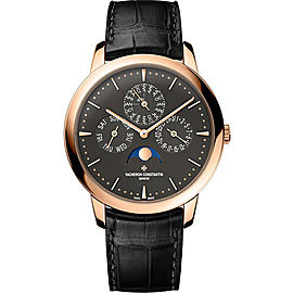 Vacheron Constantin Patrimony 43175/000R-B343 18K Rose Gold & Leather with Anthracite Dial Automatic 41mm Mens Watch