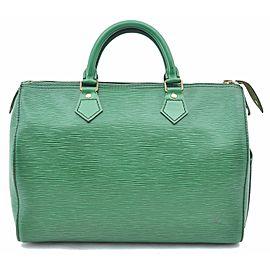 Louis Vuitton Epi Speedy 30 Hand Bag Green