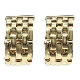 Cartier Tank Francaise Yellow Gold Hoop Earrings