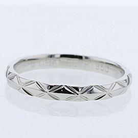 CHANEL 950 platinum Matelasse Ring