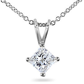 Diamond Solitaire Pendant 1/2 carat in Platinum
