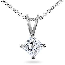 Diamond Solitaire Pendant 1/2 carat in Platinum