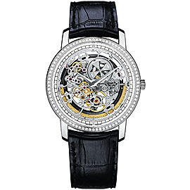 Vacheron Constantin Traditionnelle 43578/000G-9393 18K White Gold with Skeleton Dial 38mm Mens Watch