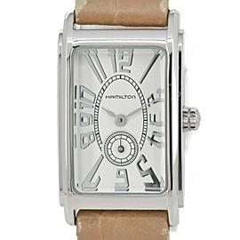 HAMILTON Ardmore H11211553 Silver Dial SS/Leather Quartz Women's Watch