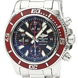 Polished BREITLING Super Ocean Chronograph Steel Automatic Watch A13341