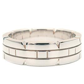 Cartier 18k White Gold Tank Francaise Ring