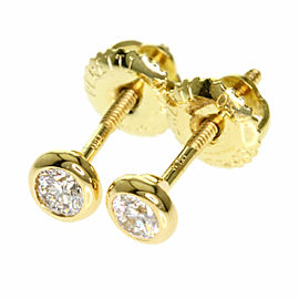 TIFFANY&Co. 18K Yellow Gold ByTheYard Diamond earring