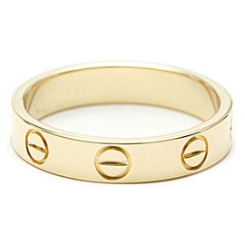 CARTIER 18k Yellow Gold Mini Love Diamond Ring