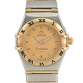 OMEGA Constellation 1362.1 Gold Dial K18/SS Quartz Ladies Watch