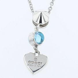 GUCCI Silver925 / Colored stones heart Necklace TBRK-409
