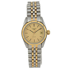 LONGINES Gold Dial Stainless Steel&Gold Plated Quartz Women's Watch