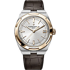 Vacheron Constantin Overseas 4500V/000M-B127 Stainless Steel & Leather Automatic 41mm Mens Watch