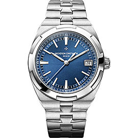 Vacheron Constantin Overseas Stainless Steel with Blue Dial Automatic 41mm Mens Watch