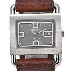 HERMES Barenia BA1.510 Silver Dial Date Quartz Women's Watch