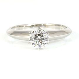 Tiffany&Co. Platinum 0.54ct Diamond Solitaire Ring CHAT-218
