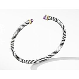 David Yurman Cable Classic Collection Bracelet with Amethyst and 18k Yellow Gold