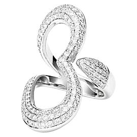 Piaget G34LJ400 18K White Gold Diamond Ring Size 6.75