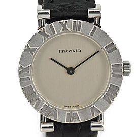 TIFFANY & CO. Atlas Ref.L0640 Silver925/Leather Quartz Women's Watch