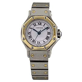 Cartier Octogon Santos 80194 Two-Tone Stainless Steel/18K Yellow Gold Automatic 24mm Womens Watch
