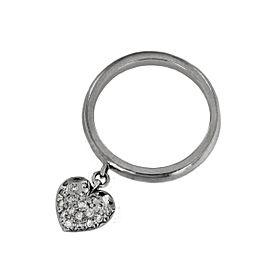 Tiffany & Co Heart Diamond Charm Platinum Ring