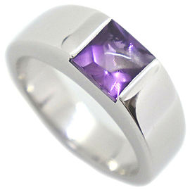 CARTIER 18k white gold/amethyst Tank Ring