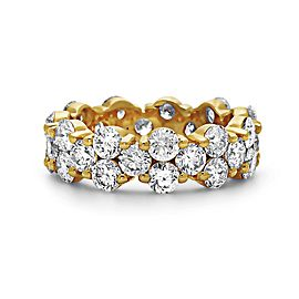 14K Yellow Gold with 4.75ct. Diamond Eternity Band Ring Size 6
