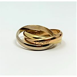 Cartier Trinity Ring 18K Yellow White & Rose Gold Size 9