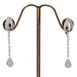 PIAGET 18K White Gold Limelight Diamonds Design Earrings