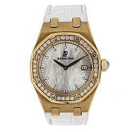 Audemars Piguet Royal Oak 67601BA.ZZ.D012CR.03 33mm Womens Watch