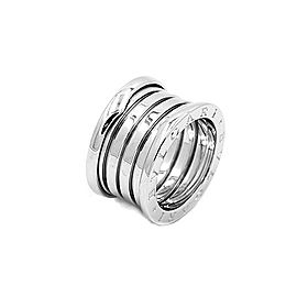 Bulgari B.Zero 1 18K White Gold Ring Size 6.25