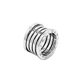 Bulgari B.Zero 1 18K White Gold Ring Size 6.5