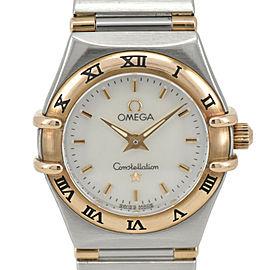 OMEGA Constellation Mini 1362.70 White shell 18K/SS Quartz Ladies Watch