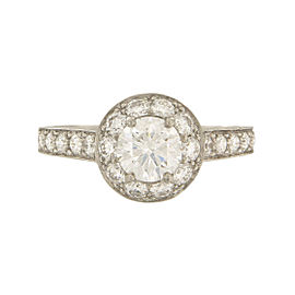 Van Cleef & Arpels Platinum with 0.70ct Diamond Icône Solitaire Engagement Ring Size 6