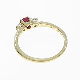 Tiffany & co. 18K Yellow Gold Ruby Ring