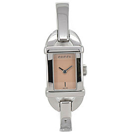 Gucci 6800L Pink Gold Dial Stainless Steel Quartz Women's Watch