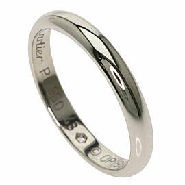 CARTIER 1P Diamond Platinum Classic Wedding Ring