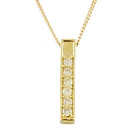 18k Yellow Gold Diamond Kihei Necklace CHAT-101