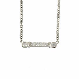 TIFFANY&Co. 950 platinum Diamond Cleaned fleur de lis stem Necklace CHAT-958