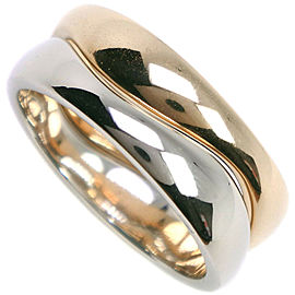 CARTIER 18k gold/silver Double Love me Ring