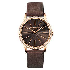 Patek Philippe 4897R 001 Rose Gold Ladies Calatrava Watch
