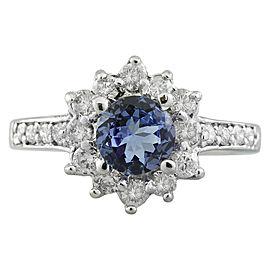1.88 Carat Tanzanite 14K White Gold Diamond Ring