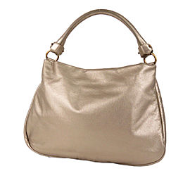 Vara Metallic Leather Satchel