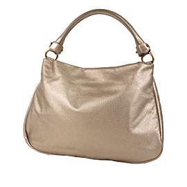 Vara Metallic Leather Satchel