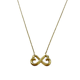 Tiffany & Co. Paloma Picasso Yellow Gold Double Loving Hearts Pendant Necklace