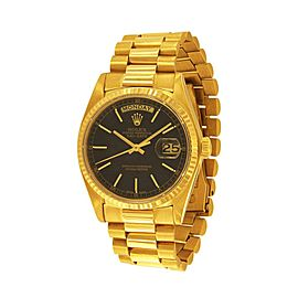 Rolex Oyster Perpetual Day Date 18036 18K Yellow Gold 36mm Automatic Mens Watch