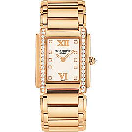 Patek Philippe 4910-11R-011 18K Rose Gold with Diamond 25 mm Womens Watch