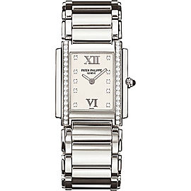 Patek Philippe 4910-10A-011 Stainless Steel with Diamond 25mm Womens Watch