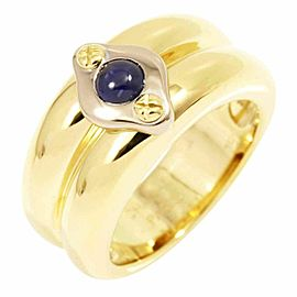 Chaumet 18K Yellow White Gold Sapphire Ring CHAT-551
