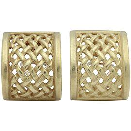 Kieselstein-Cord 18K Yellow Gold Basket Weave Earrings