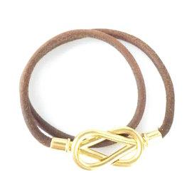 Hermes Gold Tone Hardware Knot Closure Bracelet / Choker